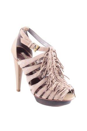 Sandaletto con tacco alto marronebeige stile da moda di strada Donna