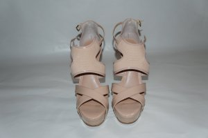 Buffalo Platform High-Heeled Sandal nude leather
