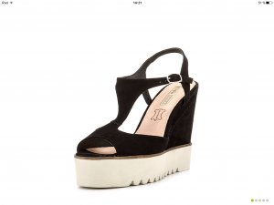 Buffalo plateau sandaletten keilabsatz Echtleder Gr. 39 UVP 99€