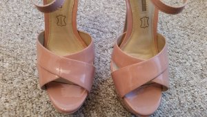 Buffalo Platform High-Heeled Sandal light pink leather