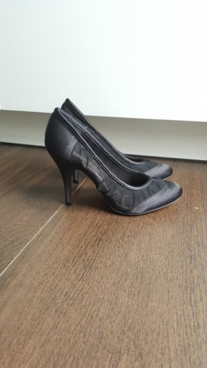 Buffalo Pumps 37 Mesh Satin schwarz Stiletto