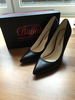 Buffalo Pointed Toe Pumps black leather