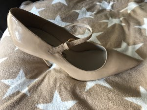 Buffalo Pumps Nude/ Beige Lackleder