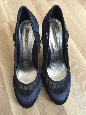 Buffalo Pumps schwarz Satin