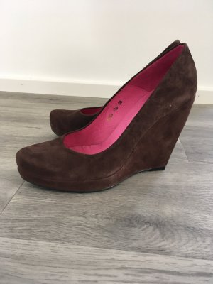 Buffalo Pumps Velours braun Gr. 38
