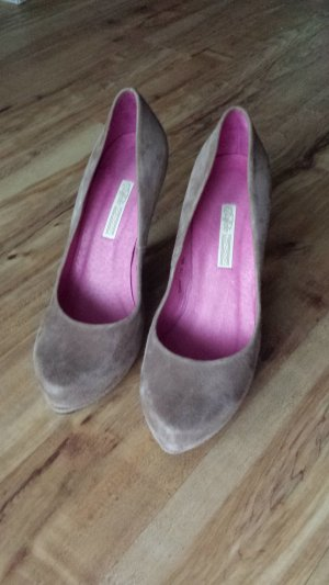 Buffalo Pumps Wildleder braun pink