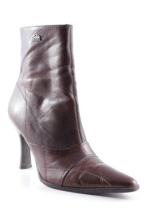 Buffalo Reißverschluss-Stiefeletten dunkelbraun Casual-Look