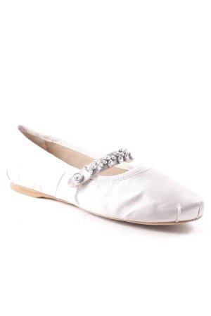 Buffalo Riemchen Ballerinas hellgrau klassischer Stil