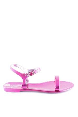 Buffalo Sandalo con cinturino rosa stile stravagante