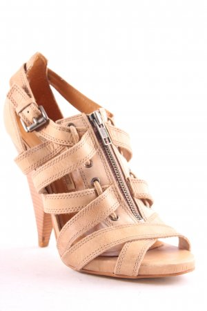 Buffalo Strapped High-Heeled Sandals beige elegant