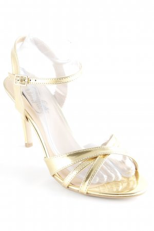 Buffalo Strapped High-Heeled Sandals gold-colored elegant
