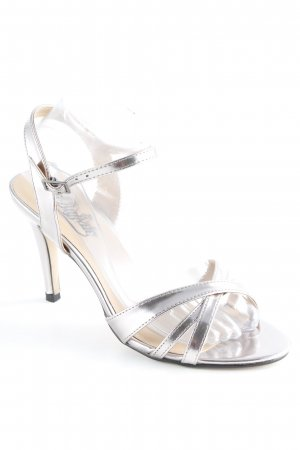 "Buffalo Strapped High-Heeled Sandals ""METALLIC PU PEWTER 01"" silver-colored"