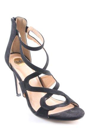 Buffalo Strapped High-Heeled Sandals black elegant