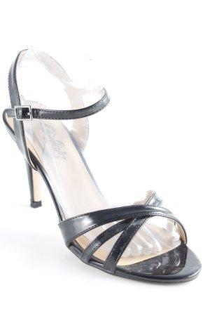 Buffalo Riemchen-Sandaletten schwarz Elegant
