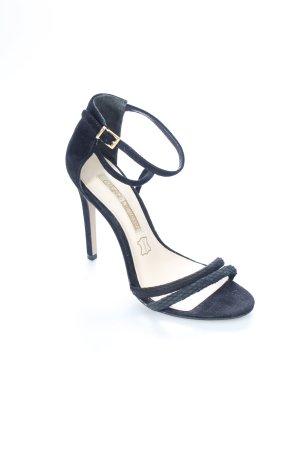 Buffalo Riemchen-Sandaletten schwarz klassischer Stil