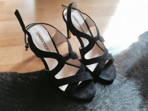 Buffalo Strapped High-Heeled Sandals black