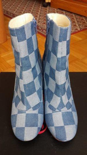 Buffalo's Schuhe Plaid Jeans Blue