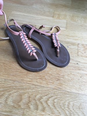 Buffalo Strapped Sandals multicolored leather