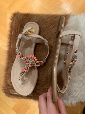 Buffalo Toe-Post sandals cream-pink