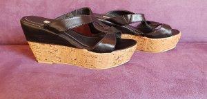 Buffalo Sandalen mit Kork Keilabsätzen