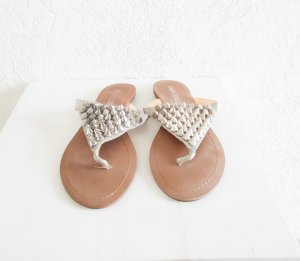 Buffalo London High-Heeled Toe-Post Sandals silver-colored-grey