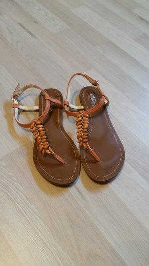 Buffalo Sandalen mit Steinen apricot orange 38