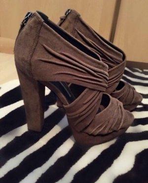 Buffalo Sandalen Schuhe High Heels braun Nude Khaki