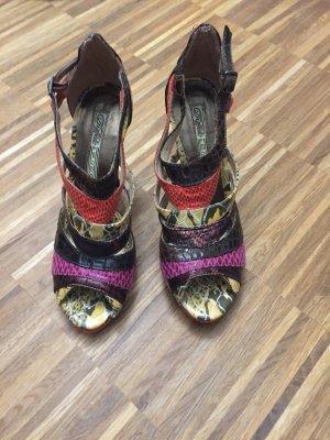 Buffalo Sandalette in bunter Schlangenlederoptik