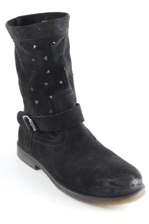 Buffalo Schlüpf-Stiefeletten schwarz Casual-Look