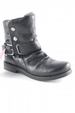 Buffalo Schlüpf-Stiefeletten schwarz-grau Casual-Look