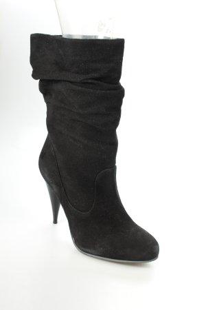 Buffalo Schlüpf-Stiefeletten schwarz klassischer Stil