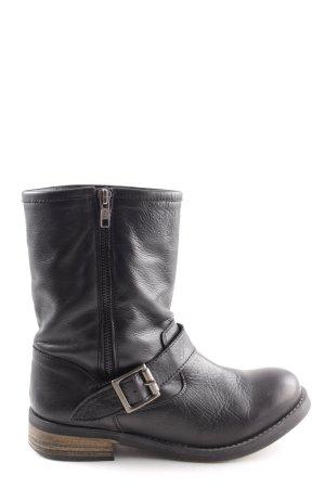 Buffalo Schnür-Stiefeletten schwarz Casual-Look