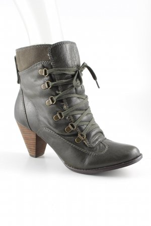 Buffalo Lace-up Booties forest green casual look