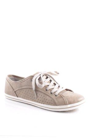 Buffalo Zapatos brogue beige-marrón claro estilo deportivo
