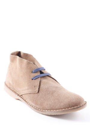 Buffalo Schnürschuhe camel-dunkelblau Vintage-Look