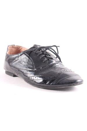 Buffalo Schnürschuhe schwarz klassischer Stil