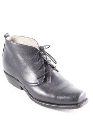 Buffalo Schnürschuhe schwarz Vintage-Look