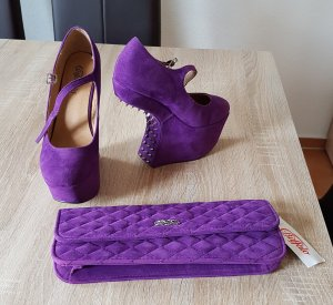 Buffalo Schuhe m. Nieten + Tasche / Clutch NEU