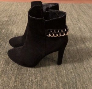 Buffalo High Heel Boots black-gold-colored