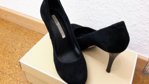 buffalo schwarze Pumps in Wildleder