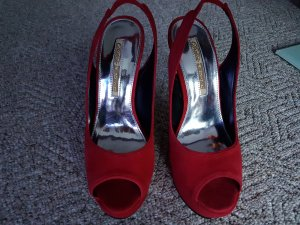 BUFFALO SLING-PUMPS MIT PLATEAU IN WILDEDER ROT