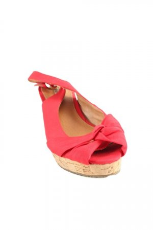 Buffalo Slingback-Pumps rot Casual-Look