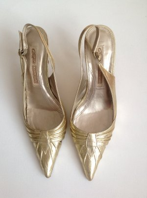 Buffalo Slingpumps Leder gold 36