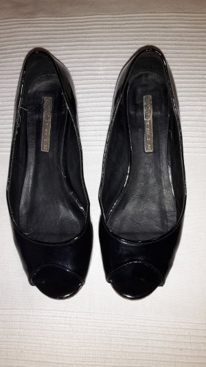 Buffalo Peep Toe Ballerinas black