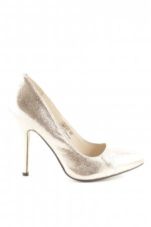 Buffalo Pointed Toe Pumps gold-colored elegant