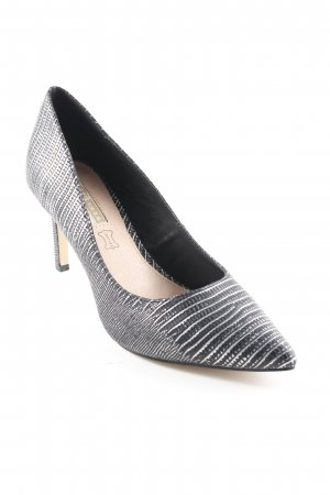 Buffalo Pointed Toe Pumps black-silver-colored elegant