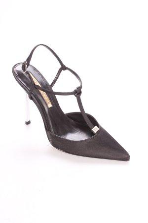 Buffalo Spitz-Pumps schwarz-silberfarben Elegant