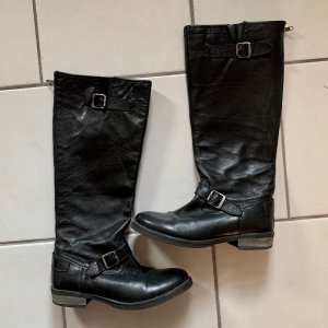 Buffalo London Winter Boots black leather