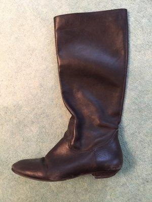 Buffalo Stiefel Boots aus Leder, schwarz, 39