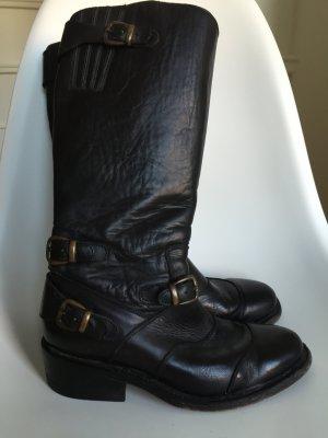 Buffalo Stiefel Gr. 37 Leder schwarz TOP!!